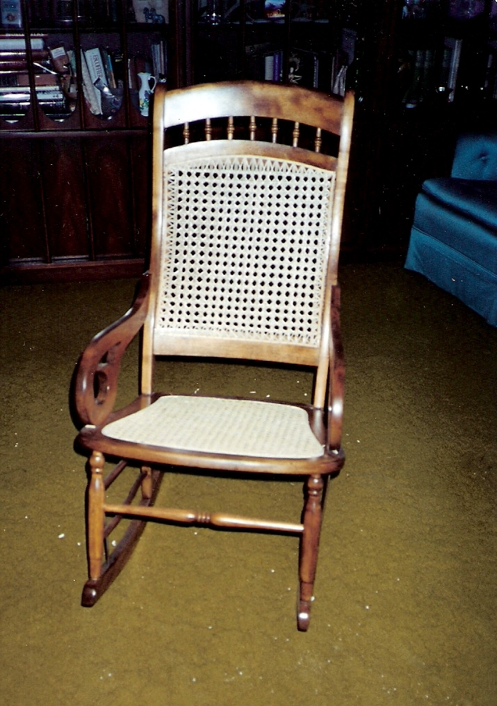 Looking as good as new & Chair Doc of Boone: Repairing Caning Antiques Rush Refinishing